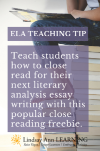 how to teach close reading analysis in the high school classroom  using the inquiry process to create an essay outline