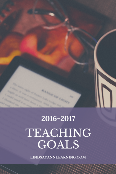 Teaching Goals for Lindsay Ann Learning