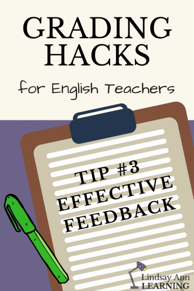 Effective Teacher Feedback in the ELA Classroom