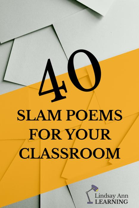 40 Slam Poems for English Language Arts