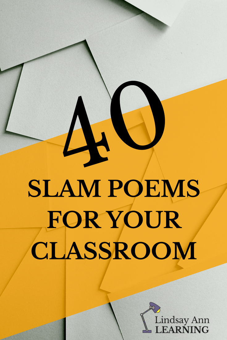 40 Engaging Slam Poems for English Class | Lindsay Ann Learning