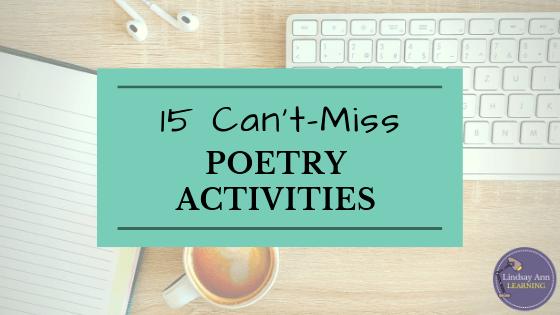 15 Fun Poetry Activities For High School English Teacher Blog